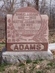 "Profile photo:  Martha Jane ""Mattie"" <I>Hamilton</I> Adams"