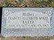 Profile photo:  Frances Elizabeth <I>McKee</I> Baker