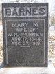 Mary M <I>Brunson</I> Barnes