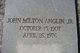 John Milton Anglin, Jr