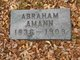 Profile photo:  Abraham Amann