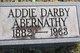 Profile photo:  Addie Myrtle <I>Darby</I> Abernathy