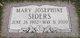Mary Josephine <I>Wilson</I> Siders