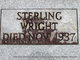 """William Sterling """"Sterle"""" Wright"""