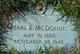 Profile photo:  Pearl E. <I>Daniels</I> McDonnel