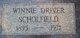 Profile photo:  Winnie Lavina Mae <I>Holly</I> Driver Scholfield