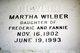 Martha <I>Wilber</I> Bowlin