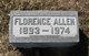 Profile photo:  Florence A. <I>Swensen</I> Allen