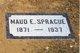 Maud Eva <I>Wells</I> Sprague