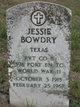 Profile photo: Pvt Jessie Bowdry
