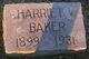 Profile photo:  Harriet V. Baker