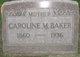 "Profile photo:  Caroline M. ""Carrie"" <I>Goodrich</I> Baker"