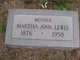 Martha Ann <I>Jones</I> Lewis