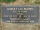 Profile photo:  Robert Lee Brown