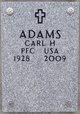 Profile photo: PFC Carl H. Adams