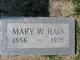 Mary W. <I>Blessing</I> Hain