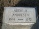 Profile photo:  Addie K Andresen
