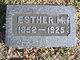 Esther <I>McMaster</I> Denby