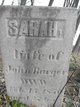 Sarah <I>Hall</I> Barger