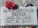 Profile photo:  Alma Gertrude <I>Adams</I> Yother