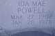 Ida Mae <I>Harrison</I> Powell