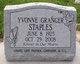 Yvonne <I>Granger</I> Staples