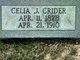 Cecilia j <I>Beck</I> Crider