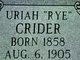 Uriah Crider