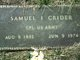 Samuel Issac Crider