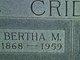 Bertha M <I>Thompson</I> Crider