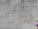 Profile photo:  John David Edenfield