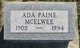 Profile photo:  Ada Emma <I>Paine</I> McElwee