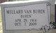 "Millard Van ""Buren"" Claxton"