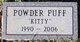 """Profile photo:  Powder Puff """"Kitty"""""""