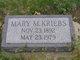 Mary M <I>McMillan</I> Kriebs
