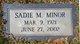 Sadie Mae Minor