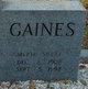 Myrtle <I>McGee</I> Gaines