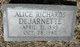 "Profile photo:  Alice Pinnell ""Allie"" <I>Richards</I> DeJarnette"