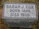 Sarah Jane <I>Casselberry</I> Cox