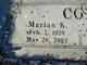 Marian Kathleen <I>Cole</I> Cox