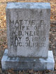 "Martha Elinor ""Mattie"" <I>Hays</I> Neill"