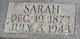 Profile photo:  Sarah Margaret <I>Dodd</I> Abrams