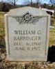 Profile photo:  William G. Barringer