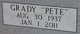 "Grady Mathis ""Pete"" Browning, Jr"