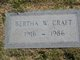 "Bertha W ""Bert"" <I>Whitfield</I> Craft"
