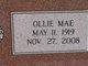 Ollie Mae <I>Carter</I> Walker