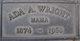 Mrs Ada Amanda <I>Woods</I> Wright
