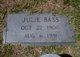 Julie <I>Garland</I> Bass