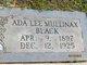 Profile photo:  Ada Lee <I>Mullinax</I> Black