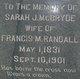 Sarah J. <I>McBryde</I> Randall